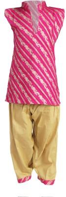 Rangreja Girl's Kurta and Pyjama Set