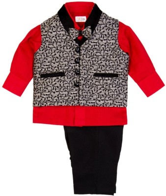 Mom & Me Boy's Shirt, Waistcoat and Pant Set