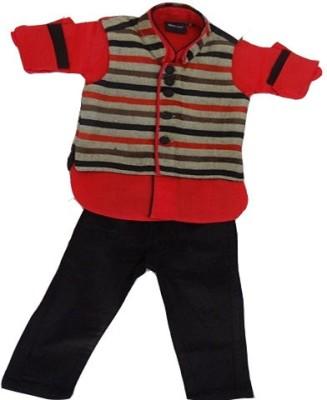 Racso Boy's Shirt, Waistcoat and Pant Set