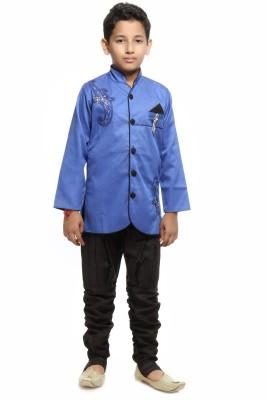 Kids On Board Boy's Kurta and Breeches Set