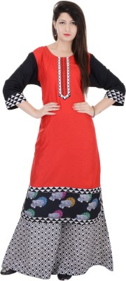 Heritage Jaipur Women's Kurta and Palazzo Set at flipkart