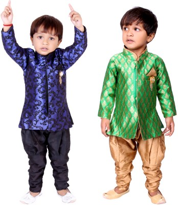 Tiny Toon Boy's Sherwani and Churidar Set