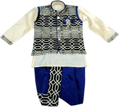 HEY BABY Boy's Dhoti & Kurta Set