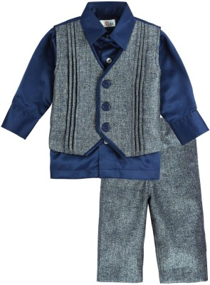 Mom & Me Baby Boy's Shirt, Waistcoat and Pant Set