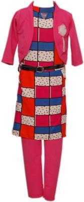 Kid's Stop Girl's Ethnic Jacket, Kurta and Legging Set