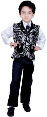 Arshia Fashions Boy's Shirt, Waistcoat and Pant Set