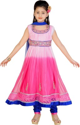 Jazzup Girl's Churidar and Dupatta Set