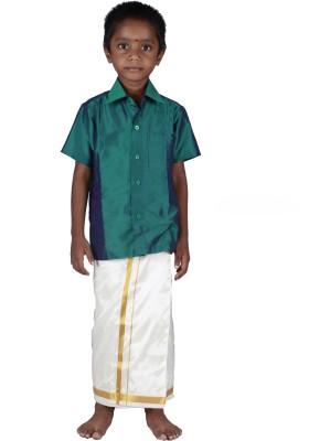 Soruba Silk Boy's Shirt & Dhoti Set