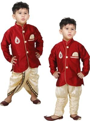 JBN Creation Boy's Kurta and Dhoti Pant Set