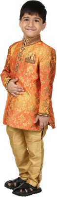 Dsyuvraaj Boy's Sherwani and Churidar Set