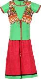 Twisha Girls Ethnic Jacket, Blouse and P...