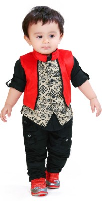 Munna Munni Kids Apparel Boy's Shirt, Waistcoat and Pant Set