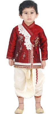 JBN Creation Boy's Kurta and Dhoti Pant Set