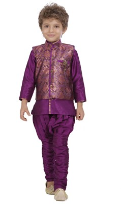 Jeet Boy's Kurta, Waistcoat and Pyjama Set