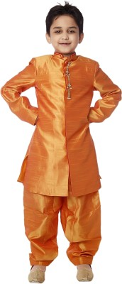 KIDOLOGY Boy's Kurta and Patiala Set