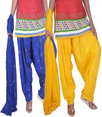 Womens Cottage Women's Patiala and Dupatta Set