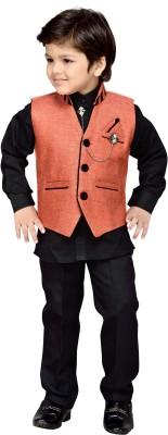 AJ Dezines Boy's Shirt, Waistcoat and Pant Set