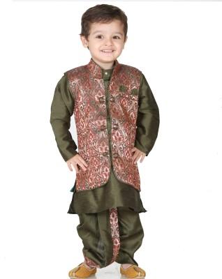 Kishore Dresses Baby Boy,s Kurta, Waistcoat and Dhoti Pant Set