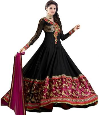 Livaaz Georgette Embroidered Semi-stitched Salwar Suit Dupatta Material