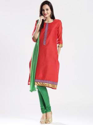 Anouk Women's Churidar and Dupatta Set