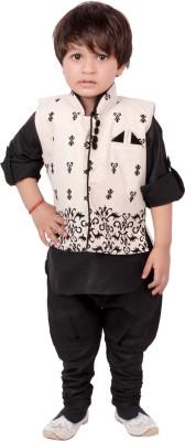 Tiny Toon Boy's Kurta, Waistcoat and Pyjama Set