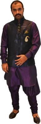 Mr. White Men's Ethnic Jacket, Kurta and Dhoti Pant Set