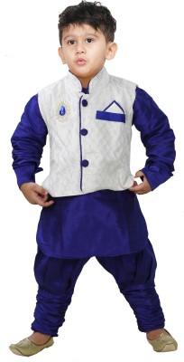 JBN Creation Boy,s Kurta, Waistcoat and Pyjama Set