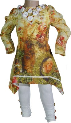Anjan Girl's Kurta and Pyjama Set