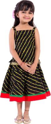 MAGNUS Striped Girl's Lehenga Choli