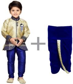 Klaud Zee Boys Sherwani and Churidar Set