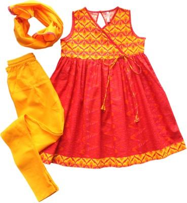 Campana Girl's Kurti, Legging and Dupatta Set