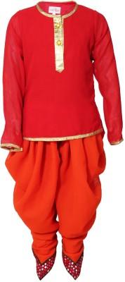 Little Radha Girl's Kurta and Pyjama Set