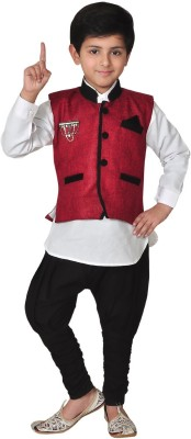 Kabeer Boy,s Shirt, Waistcoat and Pant Set