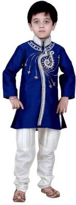 Arshia Fashions Boy's Sherwani and Churidar Set