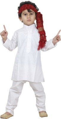 JBN Creation Boy's Kurta, Pyjama & Dupatta Set