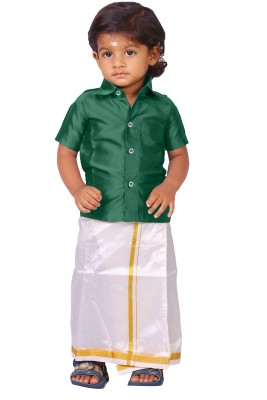 kaatru Boy's Shirt & Dhoti Set