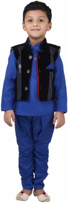 Crazeis Boy,s Kurta, Waistcoat and Pyjama Set