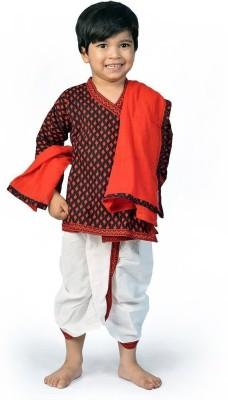 Kiran Udyog Boy's Angarkha and Dhoti Pant