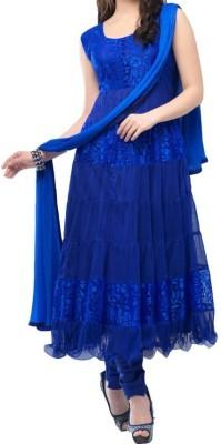 HarikrishnaTrading Brasso Embroidered Salwar Suit Dupatta Material