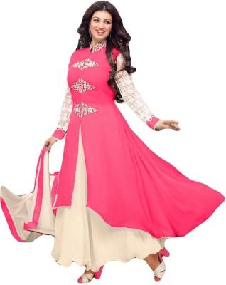 Sitaram Georgette, Net Embellished, Embroidered Semi-stitched Salwar Suit Dupatta Material