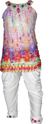 Anjan Baby Girl's Kurta and Pyjama Set