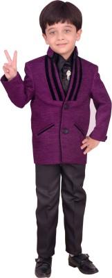 Arshia Fashions Boy's Blazer, Shirt and Trouser Set