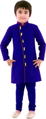 KIDOLOGY Boy's Sherwani and Churidar Set