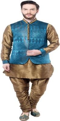 Mohanlalsons Men's Kurta, Waistcoat and Pyjama Set
