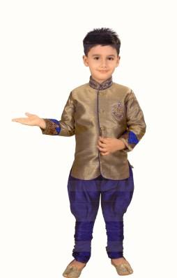 HEY BABY Boy's Kurta and Churidar Set