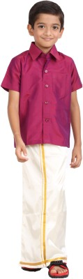 Gkidz Boy's Shirt & Dhoti Set