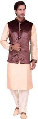 Shreesurani Men's Kurta, Waistcoat and Pyjama Set