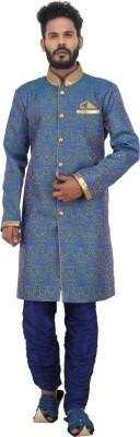 Shahjada Men's Sherwani and Churidar Set
