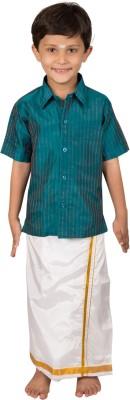 Thangamagan Boy's Shirt & Dhoti Set