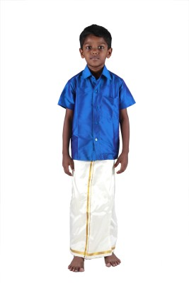 Soruba Silk Baby Boy's Shirt & Dhoti Set